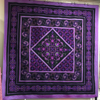 quilting classes purple quilt