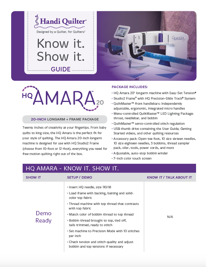 HQ Amara Know it Show It Guide