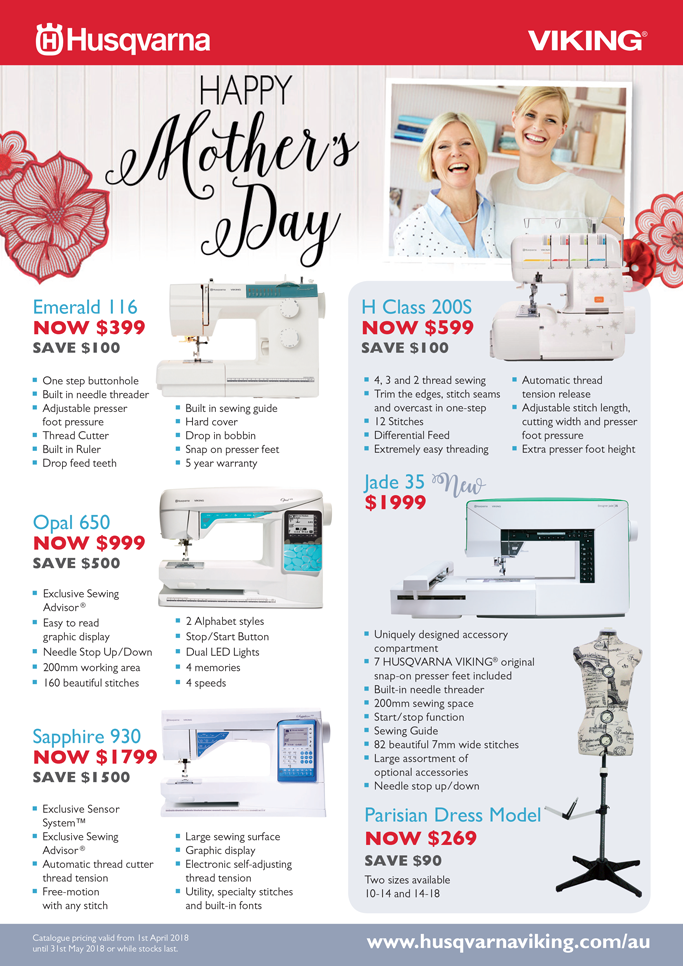 Husqvarna Viking Mother's Day Catalogue